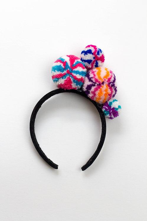 Abstract Pom Pom Headband
