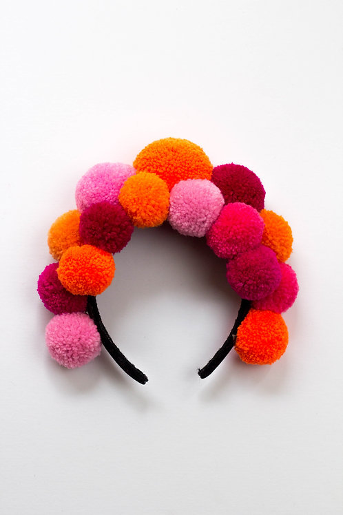 Double Smoothie Pom Pom Headband