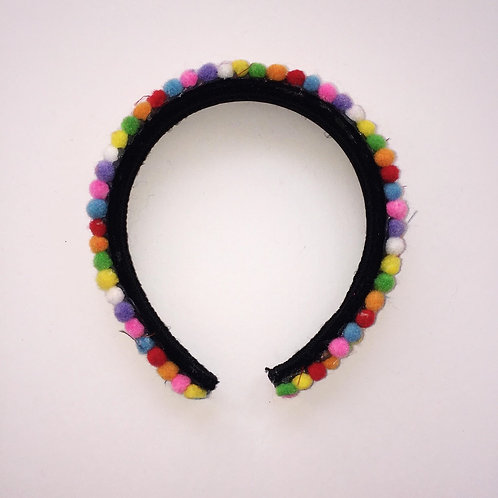 Mini Pom Pom Headband