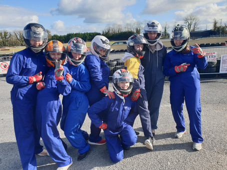 GO GIRLS KARTING JOINED BY QUINTOLUX F1 IN SCHOOLS TEAM TO PROMOTE STEM & MOTORSPORT TO GALWAY GIRLS