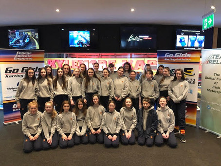 Leinster Schools enjoy Motorsport STEM Initiative & set new pitstop challenge record.