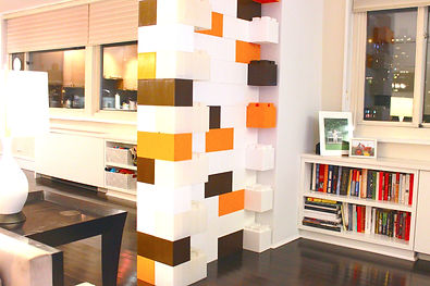 temporary building blocks for dining room