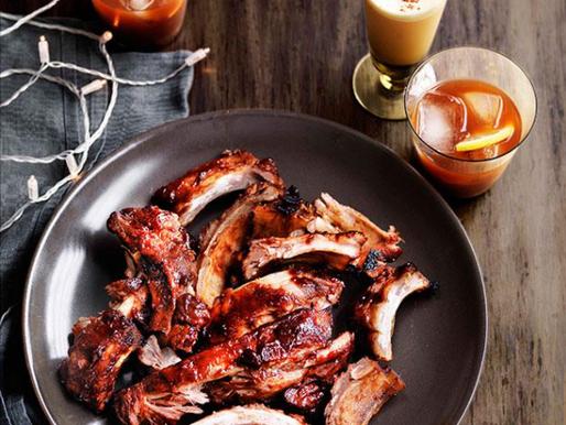 Sticky Bourbon Pork Ribs