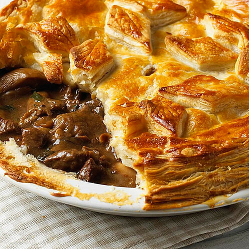 In the Mix - Venison in Red Wine Gravy Pie (available in medium or large)