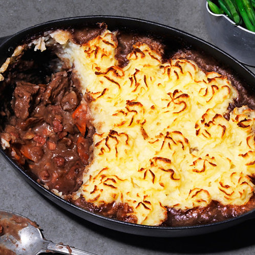In the Mix - Venison & Red Wine Cottage Pie (available in medium or large)