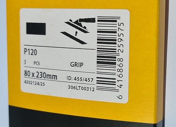 Slippapper P120 3-pack