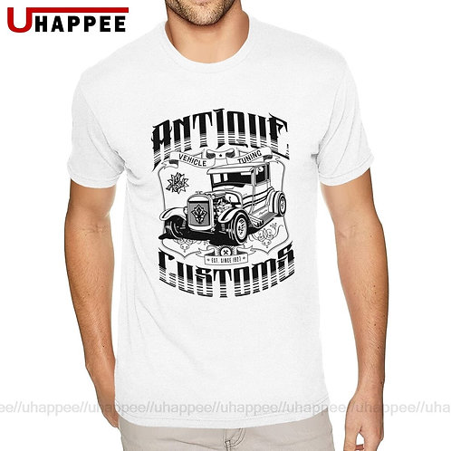 Birthday Hot Rod - Antique Customs Tshirt Mens 3XXL Short Sleeves Ultra Cotton