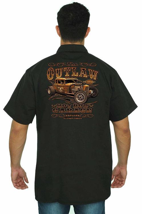 Men's Mechanic Work Shirt the Outlaw Hot Rod Garage