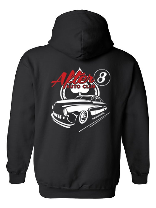 Men's/Unisex Pullover Hoodie Cool After 8 Hot Rod Auto Club
