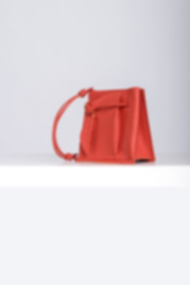 orange leather bucketbag it bag