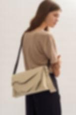 pinatex natural vegan handbag