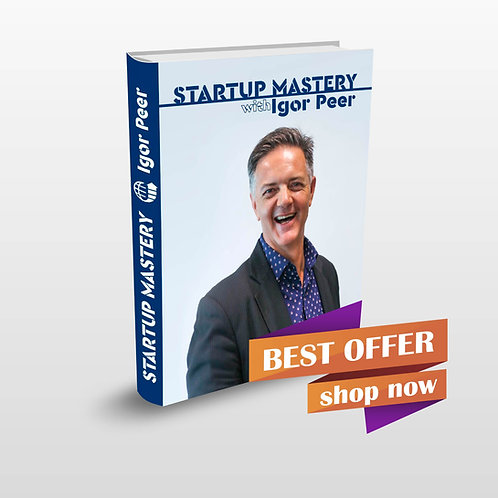 "Book ""STARTUP MASTERY"" with Igor Peer"