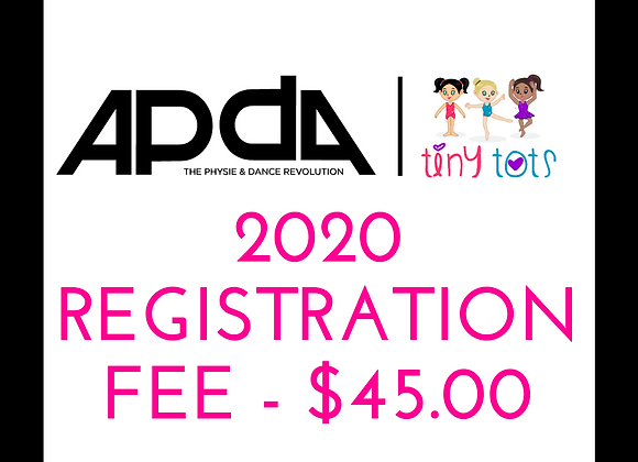 2020 APDA Tiny Tots Registration
