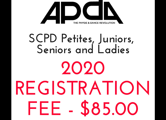 2020 APDA SCPD Petites, Juniors, Seniors and Ladies Registration