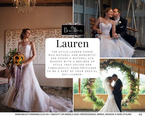 Our Beautiful Bride Lauren