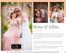 Our Beautiful Brides Rina & Elise