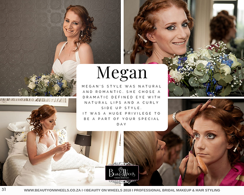 Megan Bridal Makeup & Hair Styling