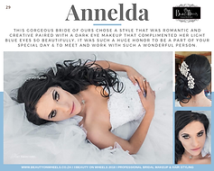 Our beautiful bride Annelda Hammer