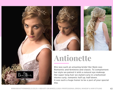 Our Beautiful Bride Antionette