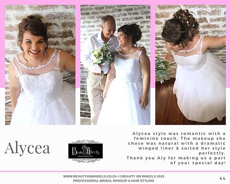 Our Beautiful Bride Alycea