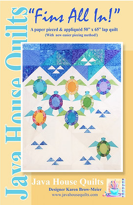 Fins All In! by Java House Quilts