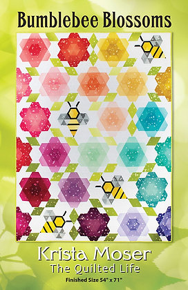 Bumblebee Blossoms by Krista Moser, The Quilted Life