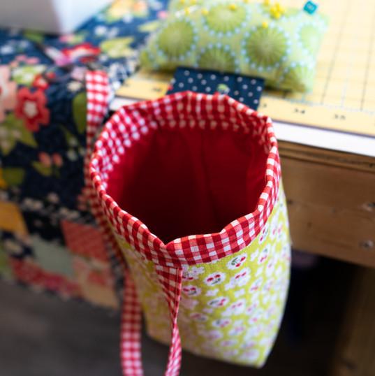 Pin Cushion w/ Waste Basket