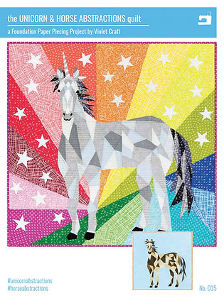 The Unicorn & Horse Abstractions Quilt by Violet Craft