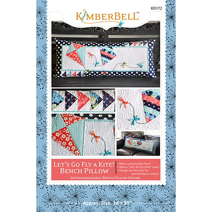 Let's Go Fly A Kite! Bench Pillow by KimberBell