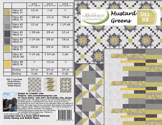 Mustard Greens by Lavender Lime