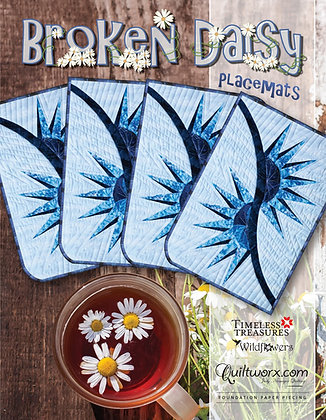 Broken Daisy Placemats by Judy Niemeyer Quilting