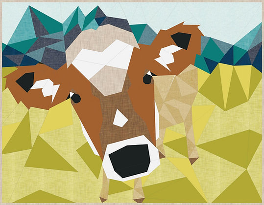 The Cow Abstractions Quilt by Violet Craft