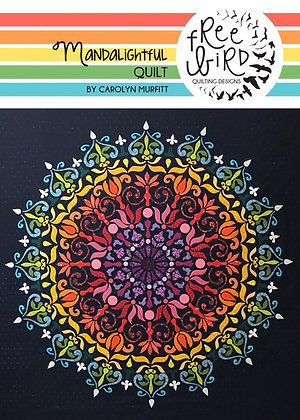 Mandalightful Quilt by Carolyn Murfitt