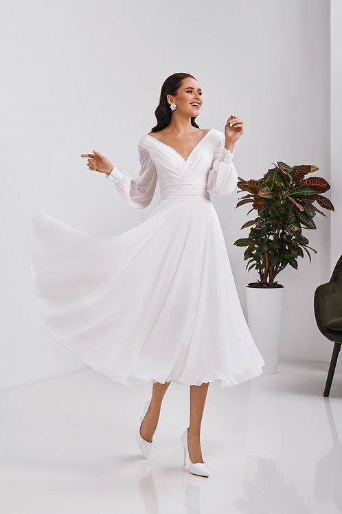 Свадебное платье длины миди Арт. 061