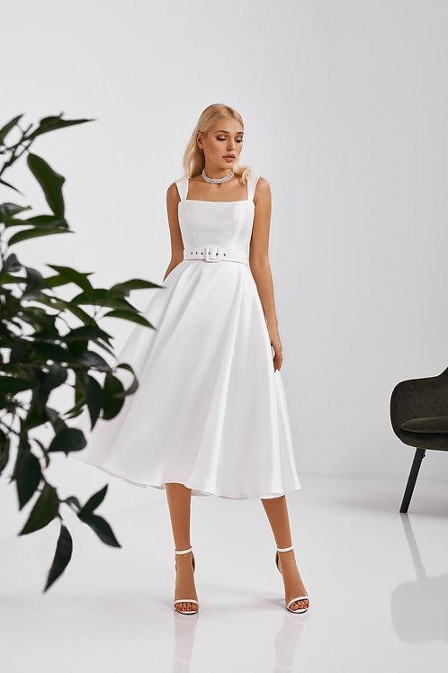 Лаконичное атласное платье Арт. 067