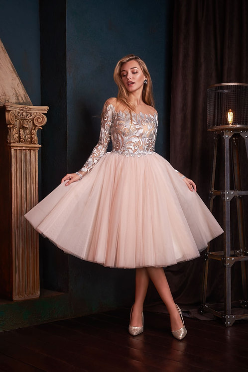 Очаровательное коктейльное платье Арт.1016