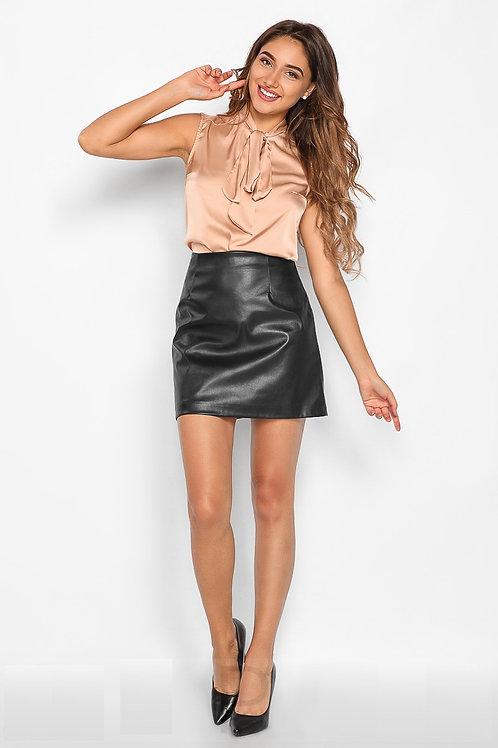 Шелковая блуза-аскот
