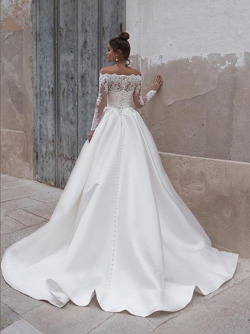 Пышное свадебное платье  с кроп-топом Арт.032