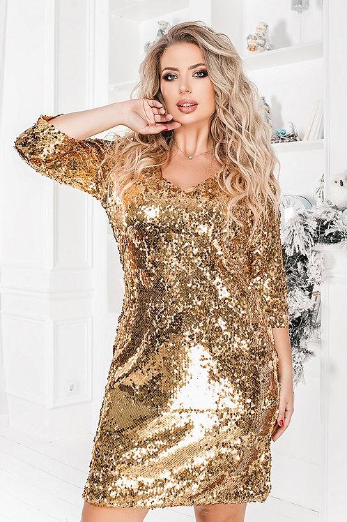 Блестящее платье Арт.639