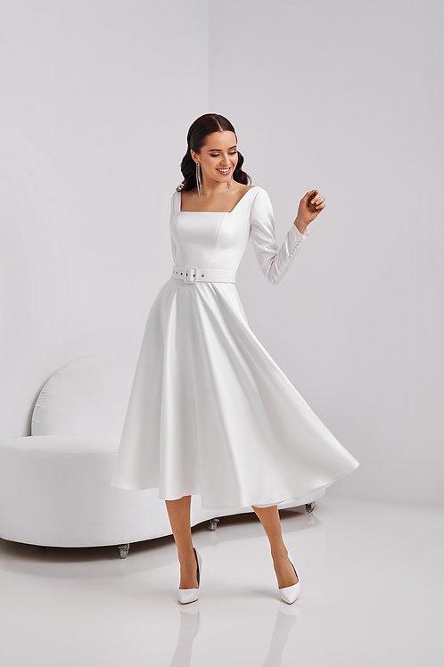 Сдержанное платье- миди Арт. 055