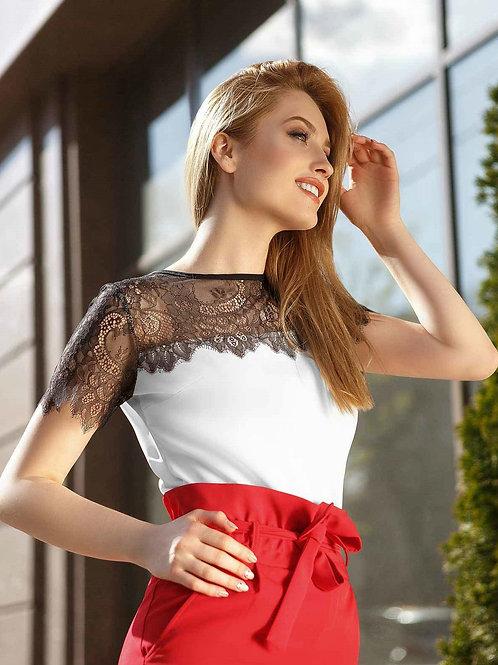 Двухцветная блуза