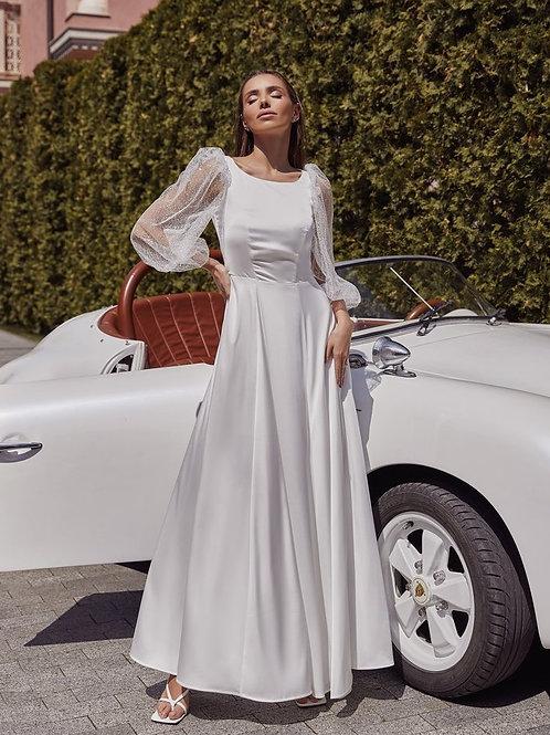Свадебное платье из шелка Арт.077