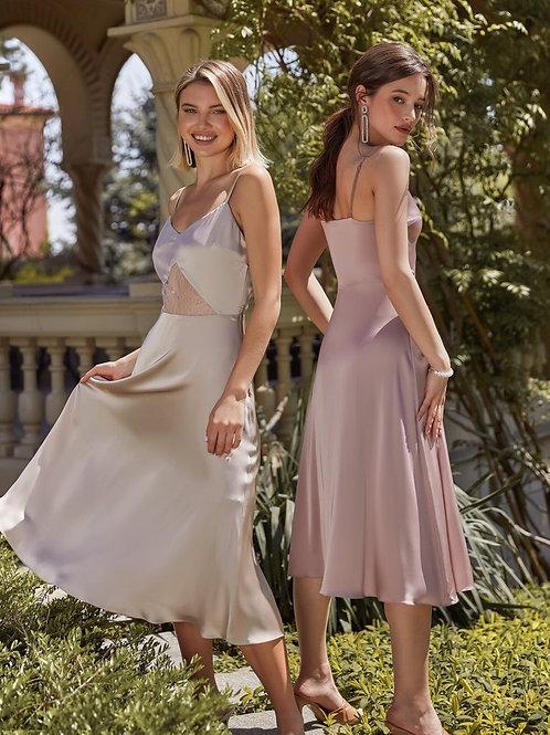 Шелковое платье-миди в бельевом стиле Арт. 530