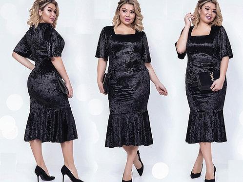 Мерцающее платье из бархата Арт.683