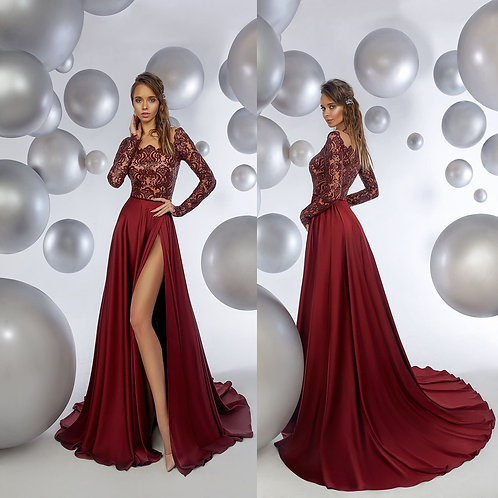 Вечернее платье из premium класса из шелка Арт.1018