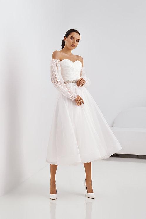 Легкое открытое свадебное платье Арт. 059