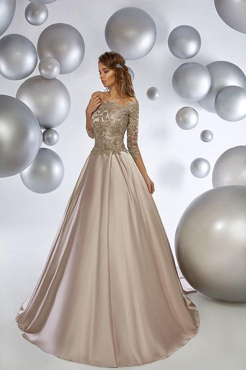 Вечернее платье с кроп-топом из premium класса Арт.1012