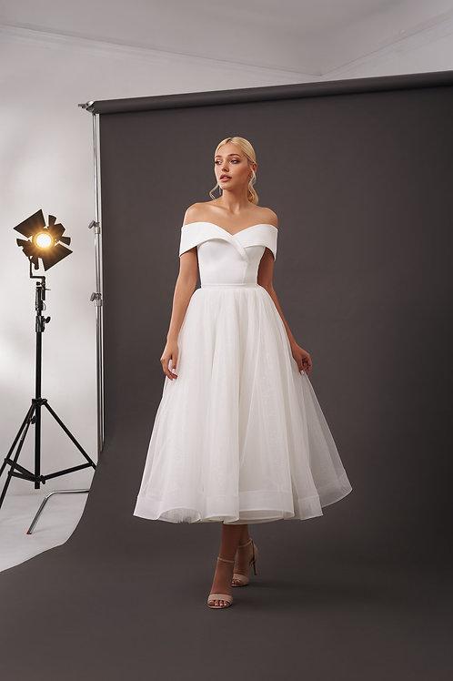 Укороченное свадебное платье Арт. 072