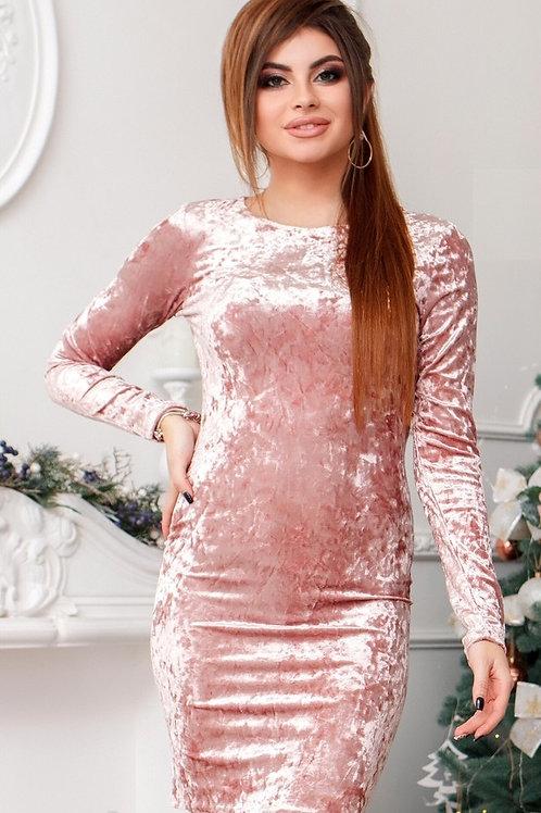 Мерцающее платье из бархата Арт.654