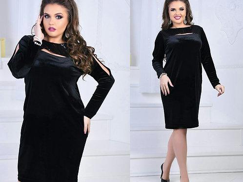 Платье из бархата Арт.680